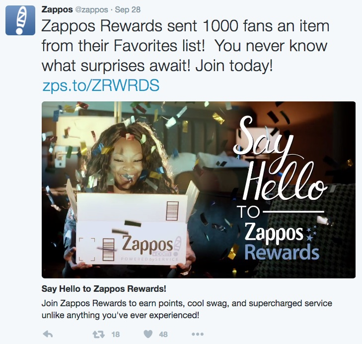 zappos_video_on_twitter