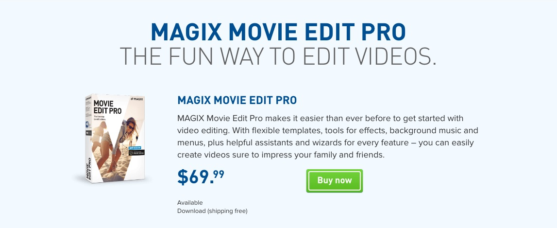 Best video software powerdirector vs magix movie vs corel for Magix movie edit pro templates